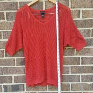 torrid Tops - Torrid Red Knit Short Sleeve Sheer Christmas Top